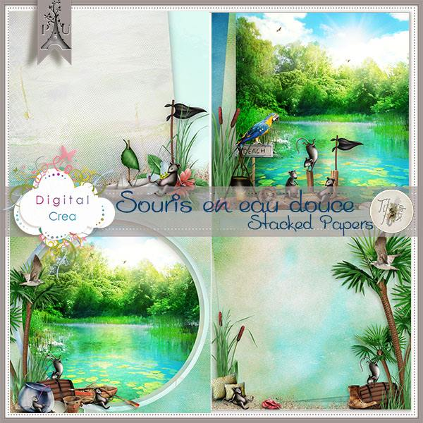 bribri62 scrap kit souris en eau douce de tifscrap. Black Bedroom Furniture Sets. Home Design Ideas