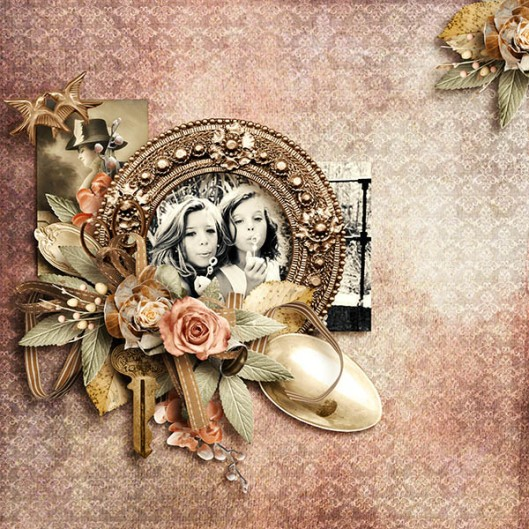 Roses dentelles Scrap de yas