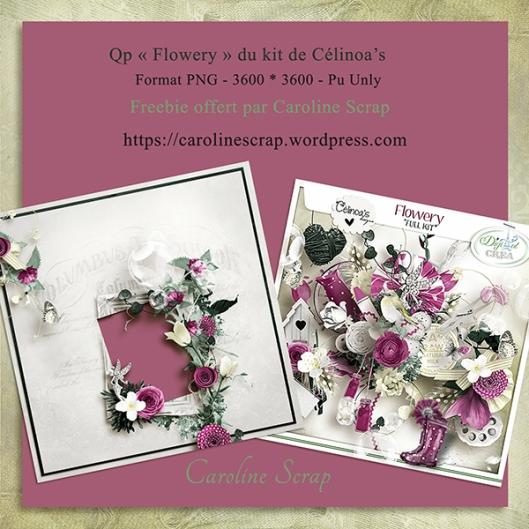 Qp offerte Flowery Célinoa's