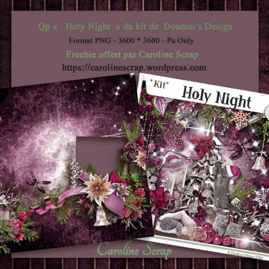 Qp offerte Holy Night doudou's