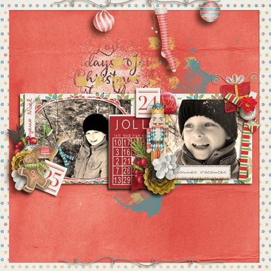 Holly jolly christmas scrap de yas