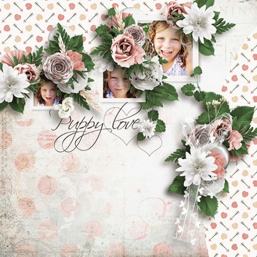 sunny flowers template4 kit moos puppy Love